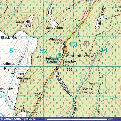 Whitrope Location map