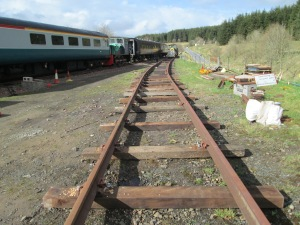 South end of Stock Siding awaiting fine- lining and levelling