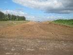 The Big cutting North of the A720 looking Northward 16th August. Thanks to the BAM operative for taking this picture.