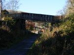 A view of the soon to be demolished Plumtreehall Road bridge. This will be replaced by a pedestrian footbridge.