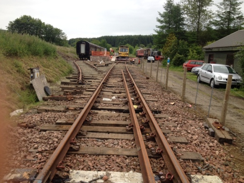 The rails have been aligned back to the main running line, with one side clipped, awaiting the Saturday team to finish the job.