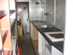 Progress being made with fitting the new kitchen in the Mk1 buffet coach.