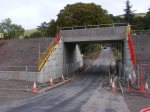 Looking towards the A7 through the new structure at Bowland.