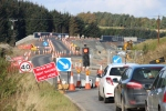 A quick shot near Falahill which shows that the new road bridge under construction has just been opened to road traffic.