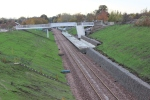 Eskbank station with track in place.