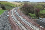 The curve of the line as it climbs Borthwick bank