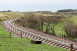 Borthwick bank, once a stiff challenge for any steam engine. Now an area where class 66's can be seen cruising past.