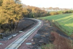 Looking north from Cowbraehill OB011/041 over-bridge with Tynehead just out of sight around corner.