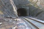 The railway once more runs through Torwoodlee tunnel.