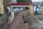 The new footbridge linking lower and upper Buckholmside still has work to do before it will be open to the public.
