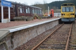 Another example of Chris's painting skill, the white line along the platform now completed ready for the new season.