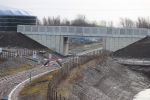 The first bridge on the Borders Railway  OB10/001, which provides access to the new zero waste site.