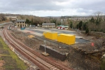 Gorebridge station with the newly built car park area in the fore.