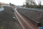 The new fencing and plenty of drainage covers complete the new cutting layout.