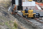 The pipework next to the dumper will be laid in the new trench over the next couple of days.