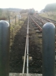 Looking between two of the levers along the rodding runs.  Photo I. Davis