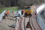 The second road/railer working away on the Galashiels side of the 'red bridge'.