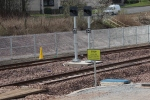 Two new signals installed at the end of the platforms at Twedbank.