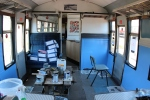 The buffet coach, also receiving a fresh coat of paint and much more ready for the new season.
