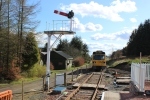 View from the platform on a pleasant afternoon at Whitrope.