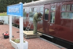 Ian continues his constant battle against the elements to keep the paintwork on the Mk1 coaches in good order.
