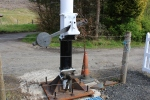 Work on the signal is now focused on linking the signal arm to an operating linkage, allowing the arm to be operated from ground level.