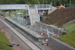 Eskbank station with work ongoing to complete the station.