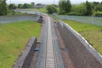 The large amount of re-enforcing required along the cutting can be seen here.