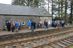 A very busy platform at Saughtree, I doubt it see numbers like this very often when it was an operating station.