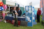 The railway stand at the Border Union show in Kelso.