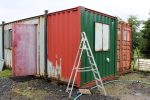 Further work on the office container.