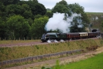 The Royal train on its way through the Borders, seen here just after leaving Bowhill tunnel. Photo. Andy Hadwin