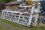 The railway has been kindly donated a set of level crossing gates that were previously located near Langholm. The gates have