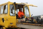 Baz ferrying pw equipment from the stores down to the work area near bridge 201.