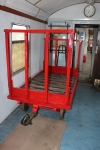 One of the jobs that Peter and Tom have been working on through the winter. The platform trolley looking smart with it's new coat of paint.