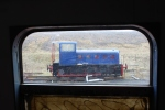 The Fowler as glimpsed through the window of the exhibition coach.