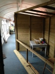 A new area in the exhibition coach which will be used to bring a new display for this year.