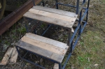 The steps into the Mk1 after some repair work.