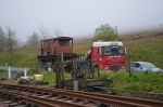 The brake van arrives at Whitrope, after something of a tour of the UK!