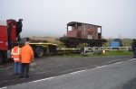 With all the blocks out of the way the trailer can be carefully reversed into position for the lift.