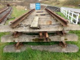 The track panels from Methil are being prepared for stripping down